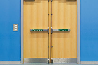 Fire rated safety doors